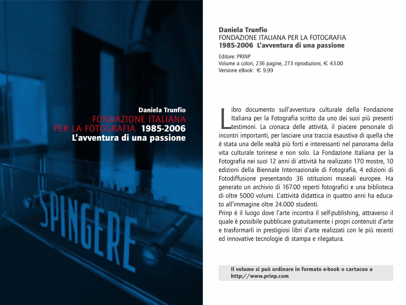 Copertina Fondazione Italiana per la Fotografia - 1985-2006 - L'avventura di una passione
